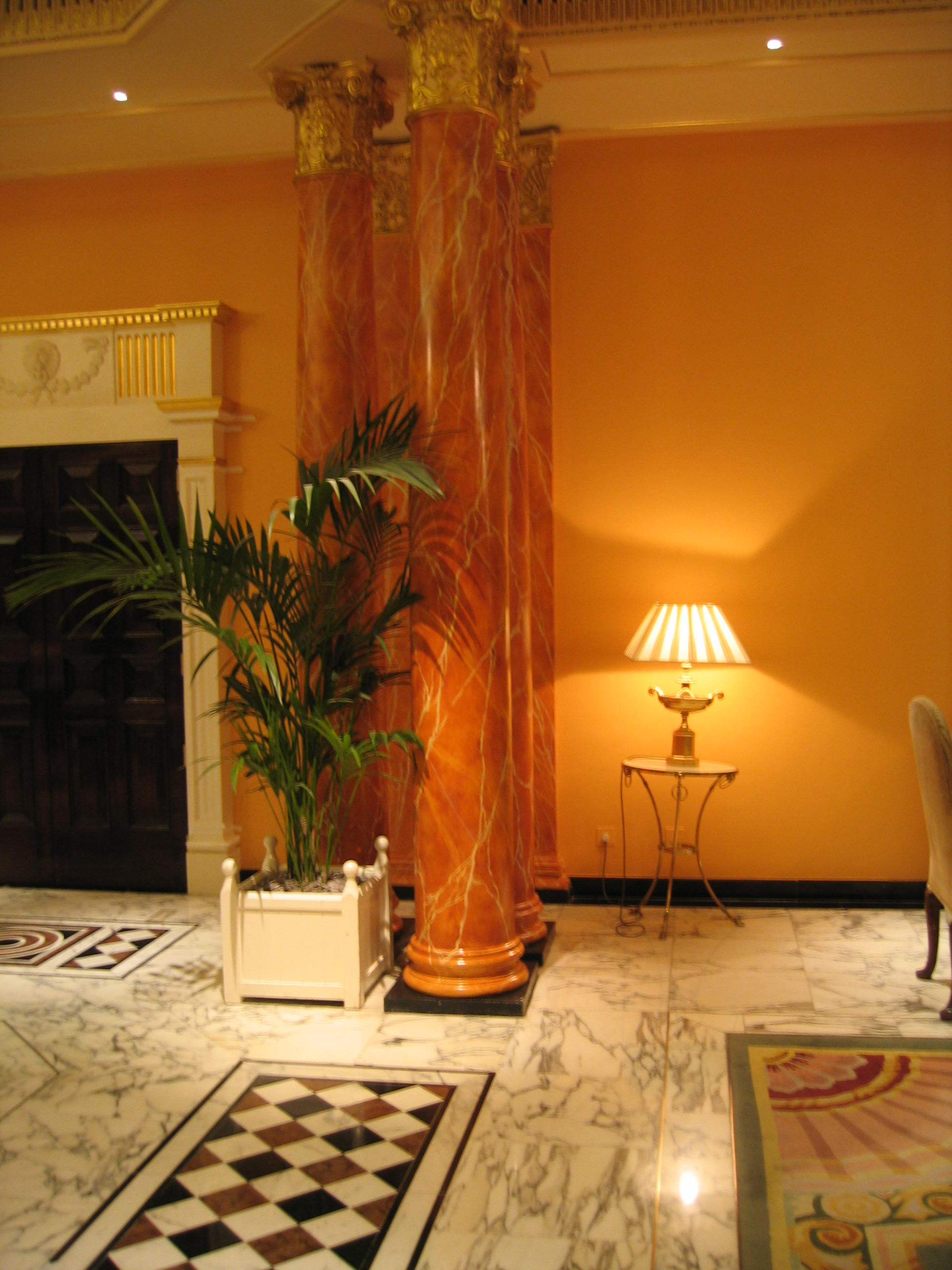 Faux Marble Columns Dorchester London