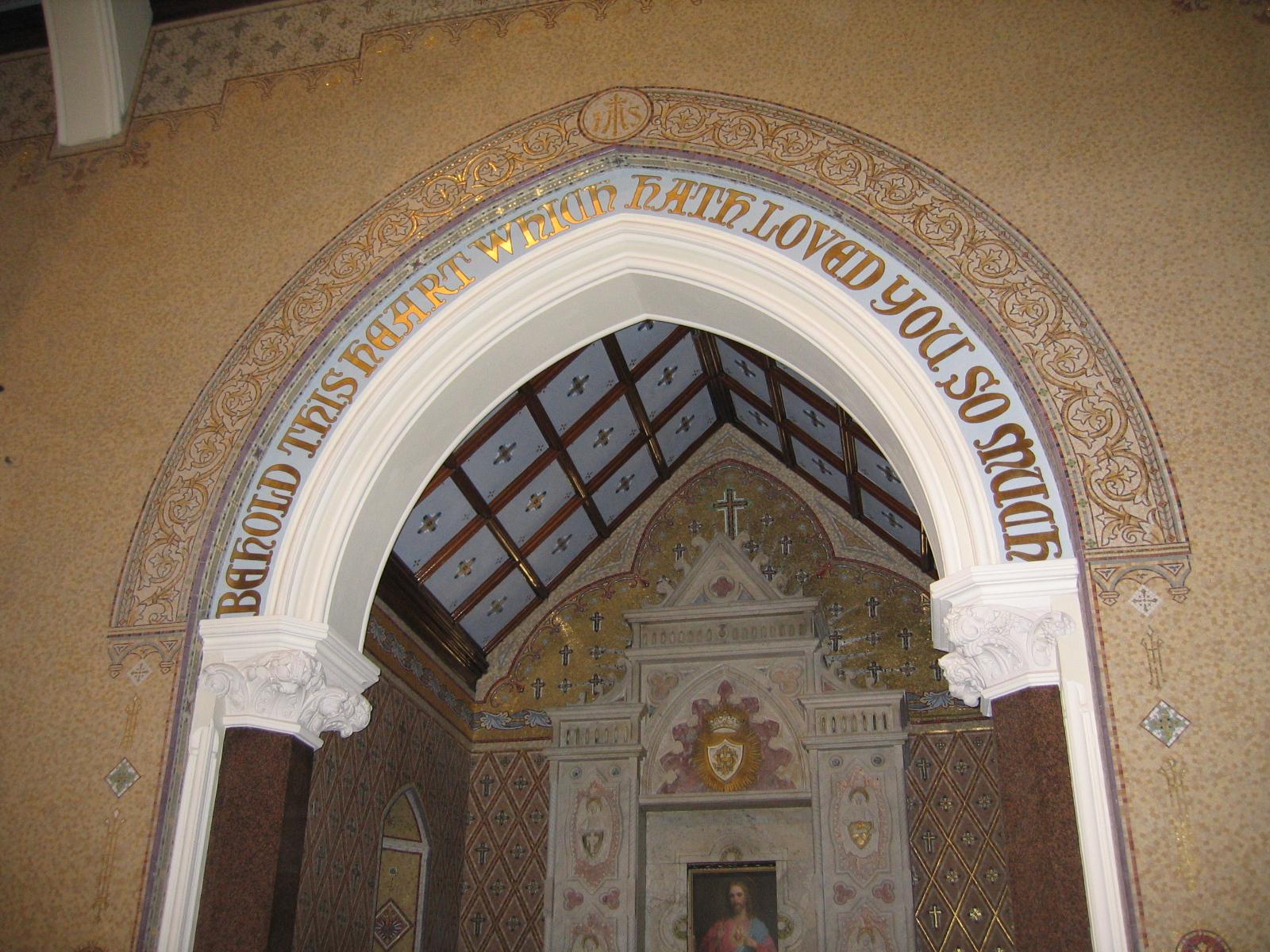 Gilded Lettering Clonard Monastery